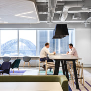 A prime property firm in a prime position, daylighting, furniture, interior design, office, product design, table, white
