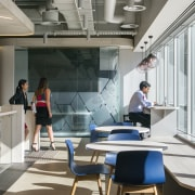 On this Savills office design by Futurespace, the interior design, office, gray