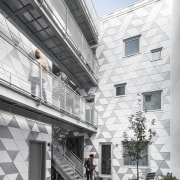Inner light  the design of La Géode apartment, architecture, building, condominium, courtyard, daylighting, facade, home, house, mixed use, neighbourhood, real estate, residential area, window, white