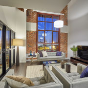 Two-storey apartments on the top floor of Heirloom interior design, living room, real estate, room, gray