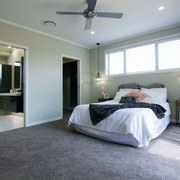 The master suite in this Fowler Homes Orewa bedroom, ceiling, floor, property, real estate, room, gray
