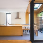 Architect Natalie Dionne says the layout of this architecture, daylighting, house, interior design, real estate, wood, white