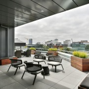 The top floor tenancy at the PwC Centre apartment, architecture, condominium, interior design, real estate, white, gray, black