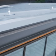The Manakau Bus Interchange roof supplied by Kingspan roof, gray