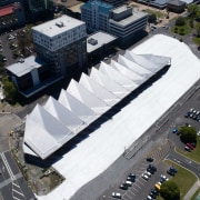The Manakau Bus Interchange by Beca and Cox aerial photography, city, urban area, black