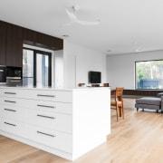 French Oak floor Provence finish provides a warm floor, flooring, hardwood, interior design, kitchen, laminate flooring, living room, wood flooring, white
