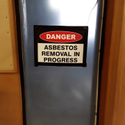 Asbestos containment and removal requires a specialised skill black, brown