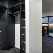 The walk-in robe is an open space which