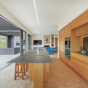 A generous use of wood, and wood look