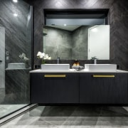 The angles through the master ensuite created drama