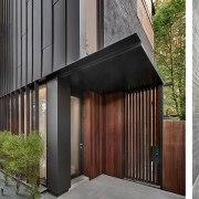 The home has several cladding elements – as