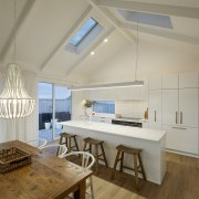 Skylights ensure even the upper reaches of the