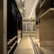 The walk-in wardrobes accommodate plenty of items –