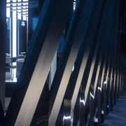 09 Zha Il Makiage Photo By Paul Warchol architecture, blue, building, daylighting, light, line, metropolis, reflection, structure, symmetry, black, blue