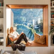 Window meets window seat in the ex bedroom/current