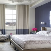 The master bedroom features another silk Fort Street