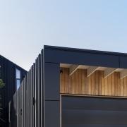 An elegant soffit solution adorns the street facing