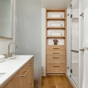 Creating custom cabinetry throughout allowed the architect and