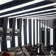 11 Zha Il Makiage Photo By Paul Warchol ceiling, interior design, structure, black, white