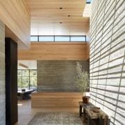 Despite the home's relatively low-slung exterior profile, the