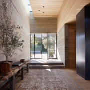 Looking back at the front door entry. -