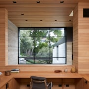This home office is situated on one of
