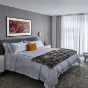 The master suite is a quiet oasis incorporating