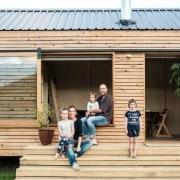 Le Workshop in Napier - Le Workshop in cottage, home, house, log cabin, shack, shed, siding, window, wood, orange