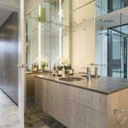 Not difficult to check your reflection in this countertop, interior design, kitchen, real estate, gray