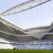 The client's brief was for a 40,000-seat football architecture, arena, net, soccer-specific stadium, sport venue, stadium, white
