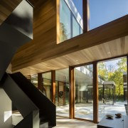 A custom coplanar glazing system designed for the