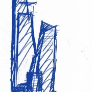 From this tiny sketch did the mighty skyscrapers drawing, line, sketch, tower, white
