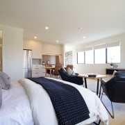 ​​​​​​​With its own kitchen and bathroom, the self-contained home, house, architecture, bedroom, studio, GJ Gardner home