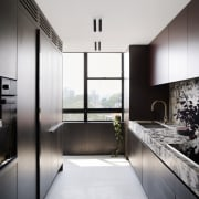 While having its own designated room, the kitchen's