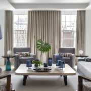 The second living room is as light-filled as