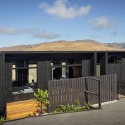 This home's scenic location was achieved by a