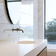 Corian basins are seamlessly integrated into the Corian