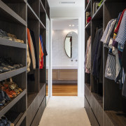 The dressing area with built in storage and