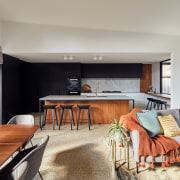 Black, white, stone, concrete and wood – the