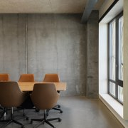 A meeting room in the state-of-the-art green building.