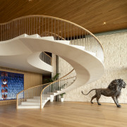 Wow! Clever behind-the-scenes design allows this curvaceous limestone