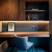 The beautifully finished home office. - Reaching out