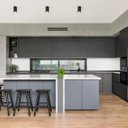 The kitchen brief required an ergonomic and centralised