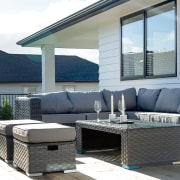 Relaxing outside is integral to this lifestyle home's