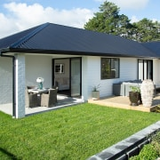 The showhome boasts an impressive Linea weatherboard and