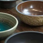 See more here bowl, ceramic, dishware, pottery, tableware, brown, black