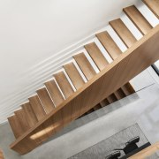 The open stairs add to the sense of