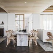 The holiday home's living/dining spaces are ideally set