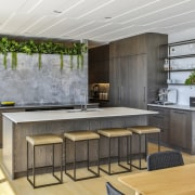 The designer created a warm, welcoming space, with