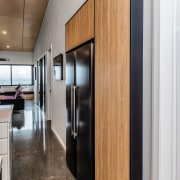 Stretched for appliance space, the designers borrowed square